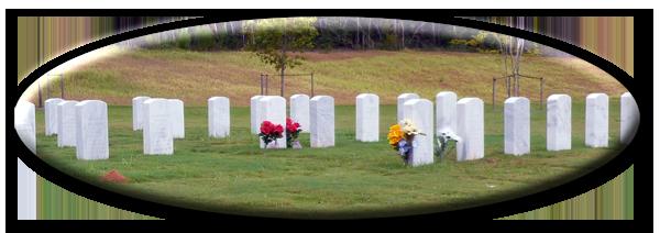 Gravestones at the Spanish Fort Veterans Cemetery